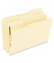 Pendaflex 1/3 Cut Tab Legal 1-Fastener Folder, Manila, 50/Box
