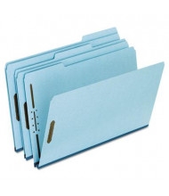 "Pendaflex Legal 1"" Expanding 1/3 Cut Tab 2-Fastener Pressboard Folder, Blue, 25/Box"
