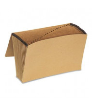 Pendaflex Essentials 21-Pocket Legal Indexed Expanding File with Closure, Brown