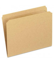 Pendaflex Dark Kraft Straight Cut Double-Ply Top Tab Letter File Folder, Brown, 100/Box
