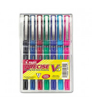 Pilot Precise V5 0.5 mm Extra Fine Stick Roller Ball Pens,  Assorted, 7-Pack