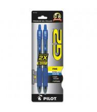 Pilot G2 0.7 mm Fine Retractable Gel Roller Ball Pens, Blue, 2-Pack