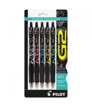 Pilot G2 0.7 mm Fine Retractable Gel Roller Ball Pens, Black, 5-Pack