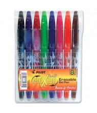 Pilot FriXion 0.7 mm Fine Stick Erasable Roller Gel Pens, Assorted, 8-Pack