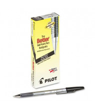 Pilot Better 0.7 mm Fine Stick Ballpoint Pens, Black, 12-Pack