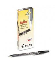 Pilot Better 1 mm Medium Stick Ballpoint Pens, Black, 12-Pack