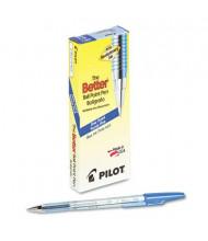 Pilot Better 0.7 mm Fine Stick Ballpoint Pens, Blue, 12-Pack
