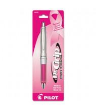 Pilot Dr. Grip 1 mm Medium Pink Ribbon Barrel Ballpoint Pen, Black