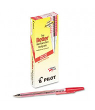 Pilot Better 0.7 mm Fine Stick Ballpoint Pens, Red, 12-Pack