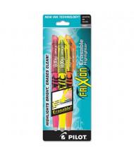 Pilot FriXion Light Erasable Chisel Tip Highlighter, Assorted, 3-Pack