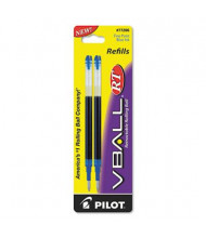 Pilot Refill for Fine Pilot V Ball Rolling Ball Pens, Blue Ink, 2-Pack