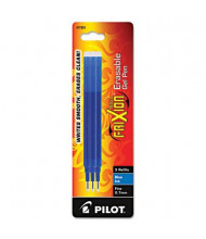 Pilot Refill for FriXion Erasable Gel Ink Pens, Blue Ink, 3-Pack