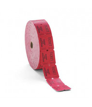 PM Company Double Ticket Roll, Red, 2000 Tickets