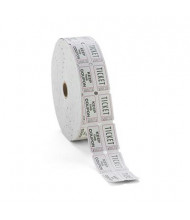 PM Company Double Ticket Roll, White, 2000 Tickets