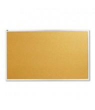 Quartet 2305 Standard 5' x 3' Aluminum Frame Cork Bulletin Board