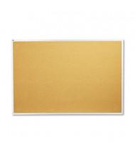 Quartet 2307 Standard 6' x 4' Aluminum Frame Cork Bulletin Board