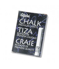 "Quartet Alpha Low-Dust 2-3/4"" Chalk, White, 12-Sticks"