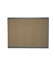 Quartet Prestige 4' x 3' Graphite Frame Color Cork Bulletin Board