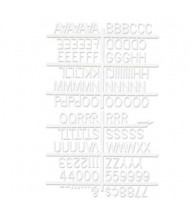 "Quartet 1"" H White Helvetica Character Kit for Letter Directory Boards, 144 Pieces"