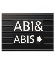"""Quartet 1"""" H White Helvetica Magnetic Character Kit for Letter Directory Boards, 128 Pieces"""
