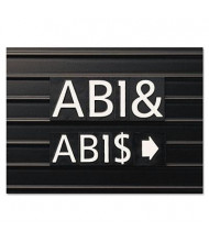 """Quartet 3/4"""" H White Helvetica Magnetic Character Kit for Letter Directory Boards, 128 Pieces"""