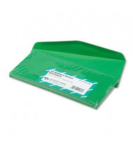 "Quality Park 4-1/8"" x 9-1/2"" Traditional #10 Colored Envelope, Green, 25/Pack"