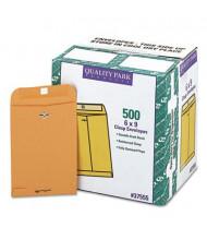 "Quality Park 6"" x 9"" #55 Clasp Envelope, Brown Kraft, 500/Box"
