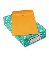 "Quality Park 10"" x 15"" #98 32lb Clasp Envelope, Brown Kraft, 100/Box"