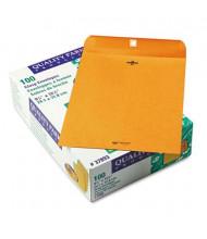 "Quality Park 9-1/2"" x 12-1/2"" #93 Clasp Envelope, Brown Kraft, 100/Box"