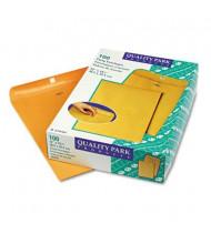 "Quality Park 12"" x 15-1/2"" #110 Clasp Envelope, Brown Kraft, 100/Box"