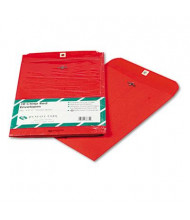 "Quality Park 9"" x 12"" #90 Fashion Color Clasp Envelope, Red, 10/Pack"