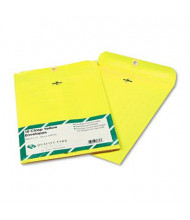 "Quality Park 9"" x 12"" #90 Fashion Color Clasp Envelope, Yellow, 10/Pack"