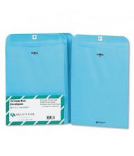 """Quality Park 9"""" x 12"""" #90 Fashion Color Clasp Envelope, Blue, 10/Pack"""