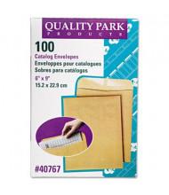 "Quality Park 6"" x 9"" #55 Catalog Envelope, Brown Kraft, 100/Box"