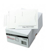 "Quality Park 5"" x 5"" Foam-Lined Multimedia Disk Mailer, White, 25/Box"