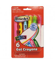 RoseArt Gel Bright Color Crayons, 6-Colors