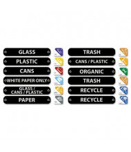 "Rubbermaid 8"" x 1-1/2"" Recycle Label Kit"