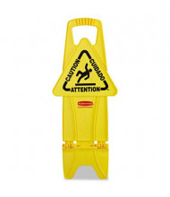 "Rubbermaid 13"" W x 26"" H Multi-Lingual Safety Stable Sign"