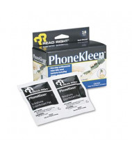 Read Right PhoneKleen Wet Wipes Box, 18 Wipes