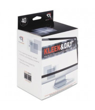 Read Right Kleen & Dry Screen Cleaner Wet Wipes Box, 40 Wipes