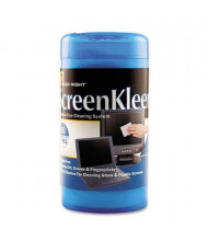 Read Right ScreenKleen Monitor Screen Wet Wipes Can, 50 Wipes