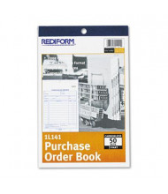 "Rediform 5-1/2"" x 7-7/8"" 50-Page 3-Part Bottom-Punch Purchase Order Book"