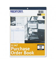 "Rediform 8-1/2"" x 11"" 50-Page 3-Part Bottom-Punch Purchase Order Book"