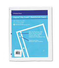 "National Brand 8-1/2"" x 11"", 100-Sheets, Unruled Rip Proof Reinforced Filler Paper"