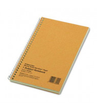 "National Brand 5"" X 7-3/4"" 80-Sheet Legal Rule Notebook, Brown Board Cover"