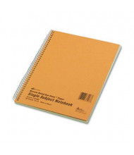"National Brand 8"" X 10"" 80-Sheet Legal Rule Notebook, Brown Board Cover"