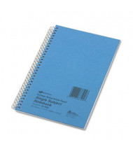 "National Brand 5"" X 7-3/4"" 80-Sheet College Rule Notebook, Blue Cover"