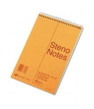 "National Brand 6"" X 9"" 80-Sheet Gregg Rule Steno Notepad, Green Paper"