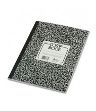 "National Brand 8-3/8"" X 11"" 80-Sheet College Rule Composition Book, Black Marble Cover"