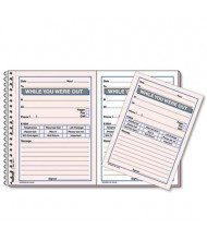 "Rediform 4"" x 5-1/2"" 100-Page 2-Part Desk Saver Wirebound Message Book"